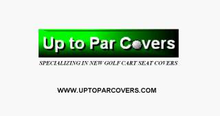 Go TXT Golf Cart Vinyl Seat Cover   STAPLE ON