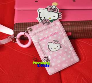 Cute Hello Kitty PVC ID Card Credit Card Holder Pink