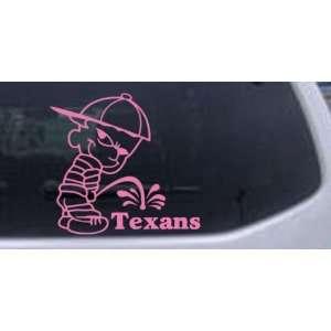 Pee on Texans Car Window Wall Laptop Decal Sticker    Pink