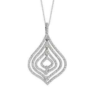 Diamond Tear Drop Necklace Jewelry