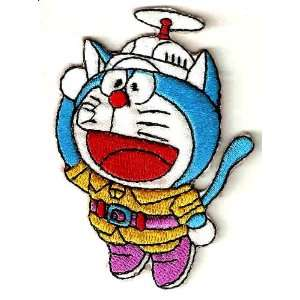 Doraemon Robot Cat w propeller hat Iron On / Sew On Patch