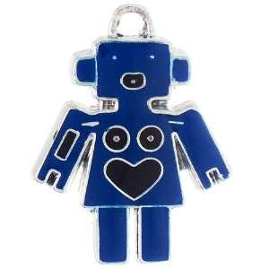 12X DIY Jewelry Making Robot with Heart Enamel Charm