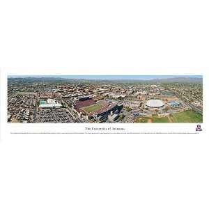Arizona Wildcats University Campus Panoramic Print Sports
