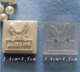 mold soap mold lovely rabbit size 3 4 4 5cm can be reused color will