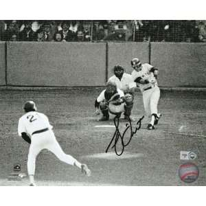 Bucky Dent New York Yankees   Home Run Action   Autographed 8x10