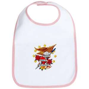 Baby Bib Petal Pink Bald Eagle Death Before Dishonor: Everything Else