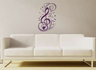 CLEF MUSIC NOTE WALL DECAL STICKER ART STUDIO DECOR NEW 894708001847