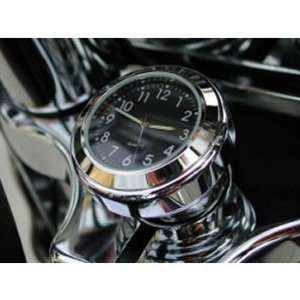 Motorcycle Stem Nut Cover Clock for Harley Davidson Springers (Black