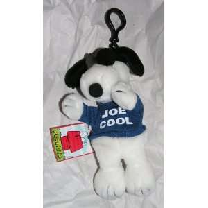 Joe Cool Snoopy Clip On Doll with Small Zippered Pouch Toys & Games
