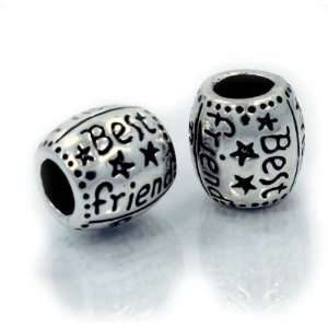 Antique Silver  Best Friends  Top Quality Exquisite Charm Spacer