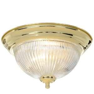 AF Lighting 671676 Halophane Dome Ceiling Fixture, Polished Brass, 11