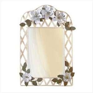 22 Shabby Chic Magnolia Metal Lattice Wall Mirror