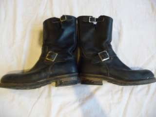 Vintage Red Wing Steel Toe Leather Harness Motorcycle Boots Mens 10.5