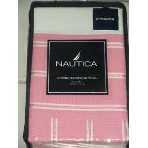 Nautica Pink Grommeted Window Panel Home & Kitchen