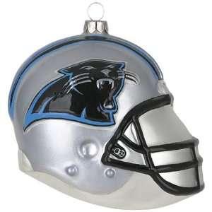 Carolina Panthers NFL Glass Football Helmet Ornament (3