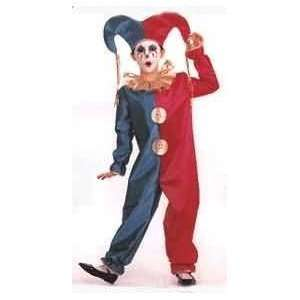 Child Glitter Clown   Court Jester Costume: Toys & Games