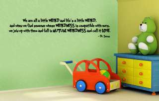 DR. SEUSS WEIRD LOVE QUOTE WALL DECAL ART