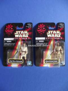 EP1 Foreign Exclusive 2 Mini Action Figure Lot of 2 MOC Kenobi & Jinn