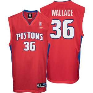 Rasheed Wallace Red Reebok NBA Replica Detroit Pistons Youth Jersey