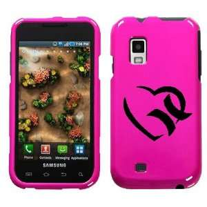 SAMSUNG GALAXY S FASCINATE I500 BLACK HURLEY HEART ON A PINK HARD CASE