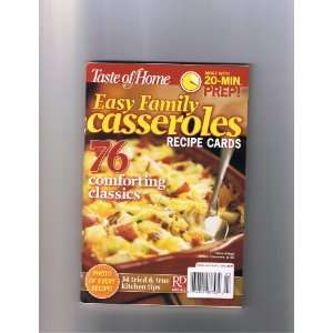 Taste of Home Easy Family Casseroles Recipe Cards (76