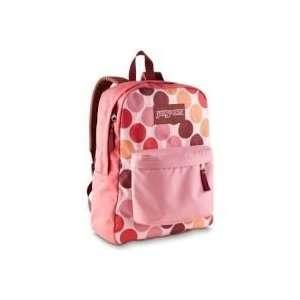 JanSport Superbreak Pink Polka Dots Spots School Backpack