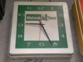 Tires Tubes Advertising Gas Motor Oils Pump Station Clock SIGN