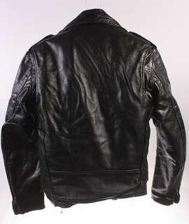 MENS VINTAGE GLEN EAGLE SOFT LEATHER MOTORCYCLE/BIKER COAT/JACKET sz S