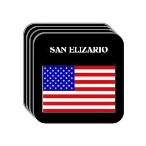 US Flag   San Elizario, Texas (TX) Set of 4 Mini Mousepad