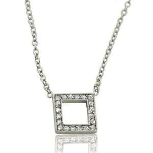 Designer Inspired Elsa Peretti Sterling Silver Open Square