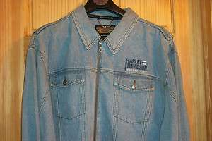 Mens Harley Davidson Denim Jacket Size XXL Perfect condition