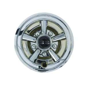 Inch Chrome Painted Wheel Cover with SS Logo Patio, Lawn & Garden