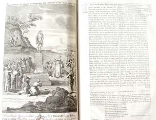 1742 LARGE ILLUSTRATED HOLY BIBLE book British English