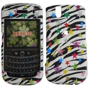 Zebra Star Hard Case Cover for Blackberry Bold 9650 Tour