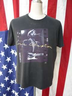 vintage 90s ERIC CLAPTON JVC presents 1992 tour T Shirt size XL