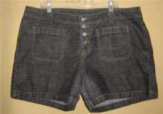 LEVIS Jeans BLACK Patch Pocket Stretch BUTTON FLY DENIM Jean SHORTS