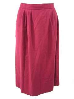 CARLISLE Maroon Wool Long Pleated Straight Skirt Sz 16
