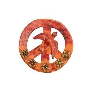 Patricia Healey Copper Peace Dove Flower 45mm Charms Arts