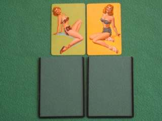 SWIMSUIT BEAUTIES PINUP GIRL PLAYING CARDS VINTAGE MINT