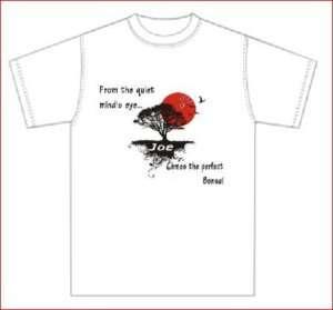 Wonderful Bonsai Poem T shirt / Personalized