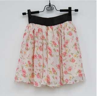 NWT Korean Fashion Sexy Pink Floral Mini Skirt #Flower2