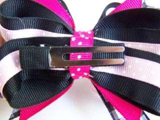 New Girls CUSTOM POODLE PIGGIES SET Boutique Hair Bows. includes