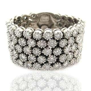 Piero Milano 2.10ctw 18k White Gold Ladies Flexi Ring Size 8.5 [LOOKS