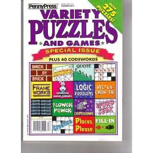 Variety Puzzles (Penny Press, Summer 2010) various Books