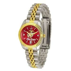U.S. Marine Corps MILITARY Womens Anochrome Gold Watch