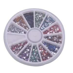 Pcs Heart Nail Art Nailart Manicure Glitter Tips Rhinestone Wheel Kit