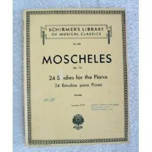the piano 24 estudios para piano  op. 70. 2 Ignaz Moscheles Books