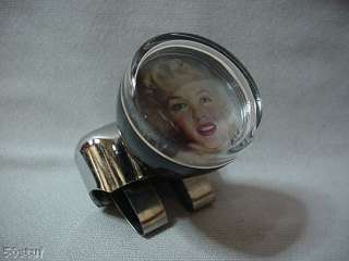 MARILYN MONROE FACE POSE STEERING WHEEL SUICIDE KNOB
