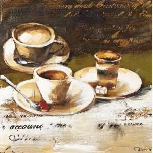 Yosemite Home Decor YB100340A Coffee Cafe I Hand Painted