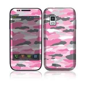 Pink Camo Decorative Skin Cover Decal Sticker for Samsung Fascinate